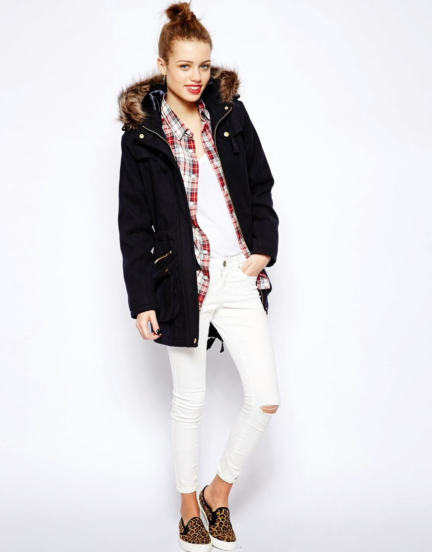new look parka coat