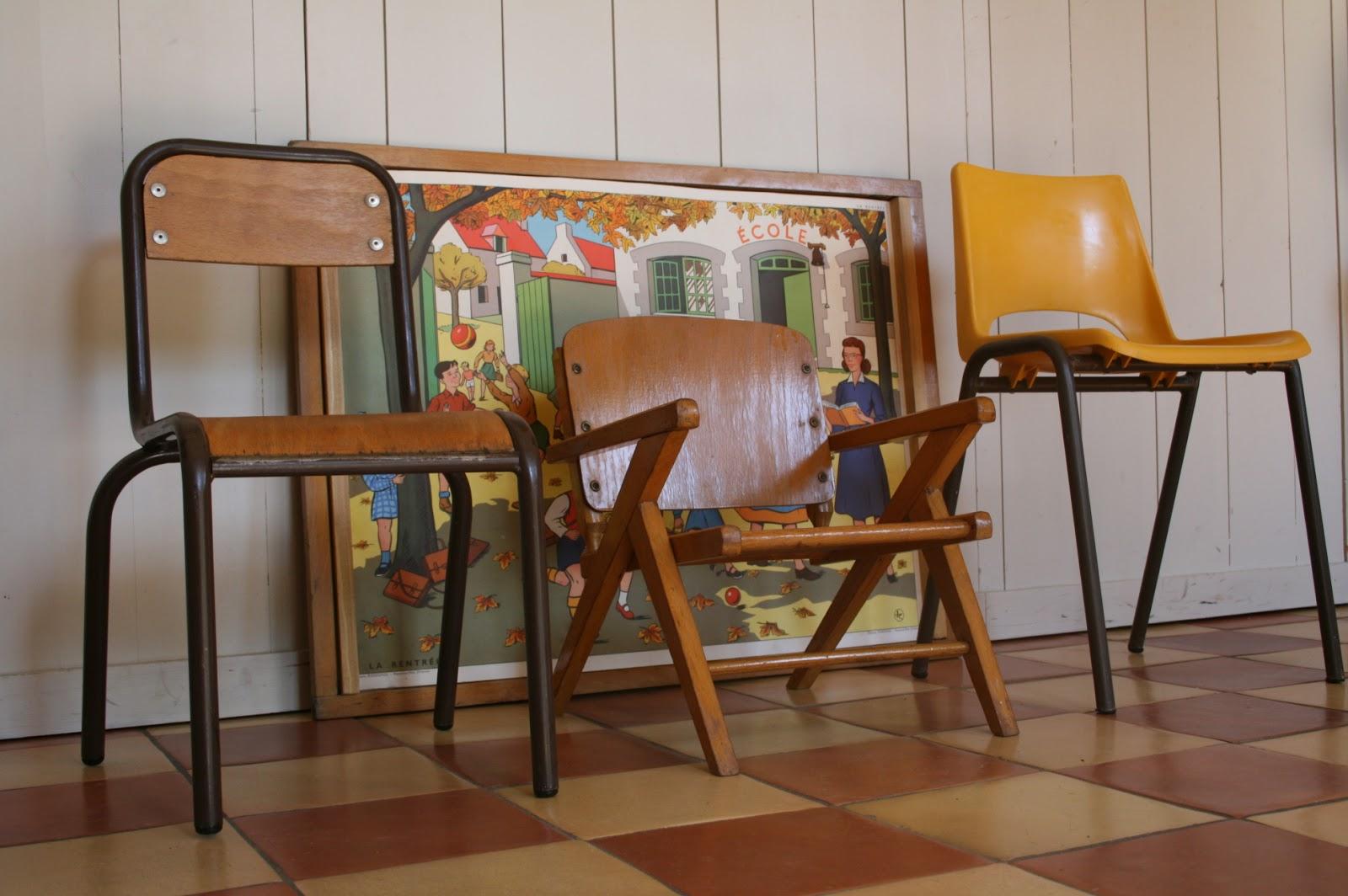 c 39 est la re cr ation vintage scolaire vintage coup de c ur chaises vintage pour les. Black Bedroom Furniture Sets. Home Design Ideas