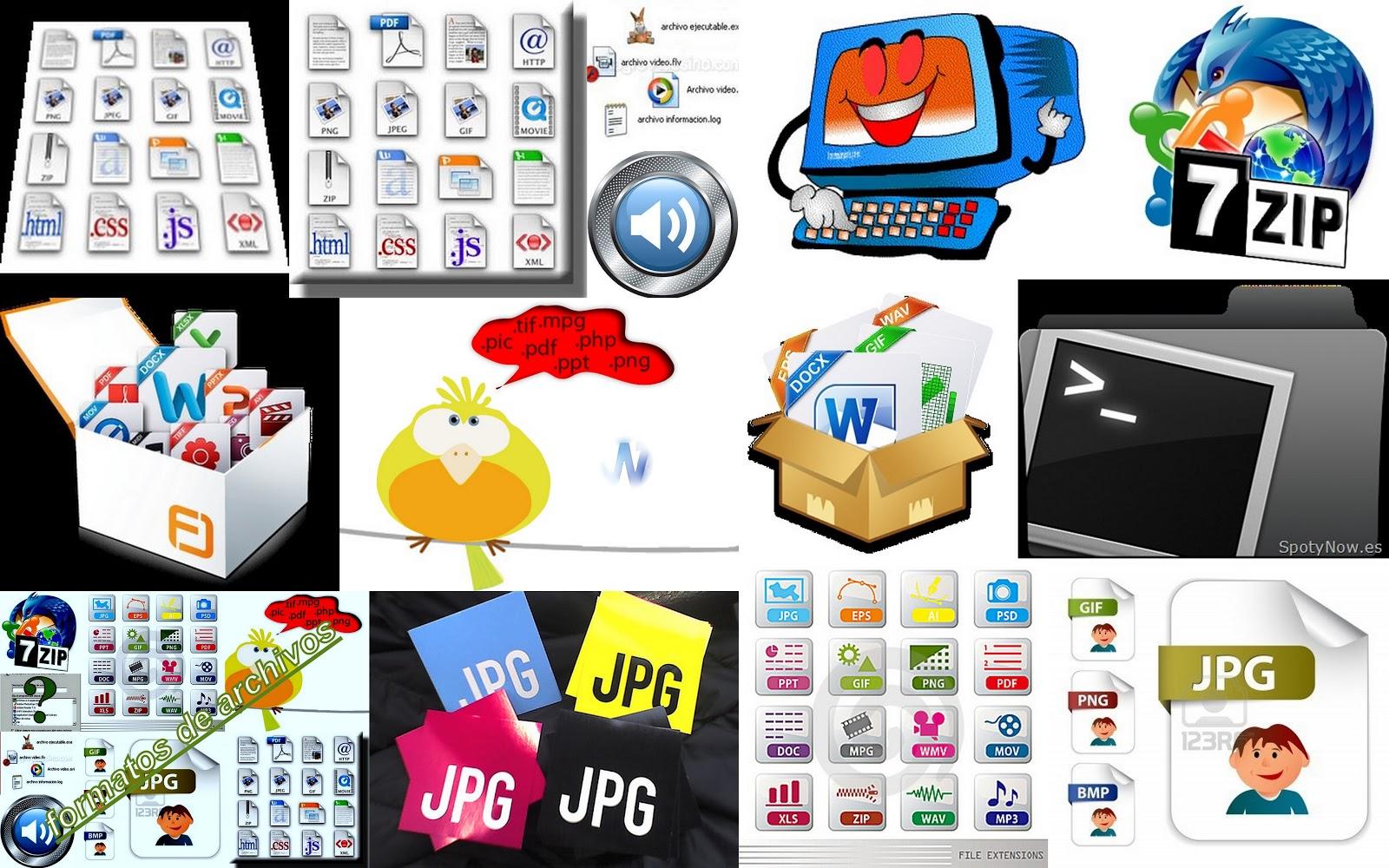tic\'s: un collage sobre formatos de archivos