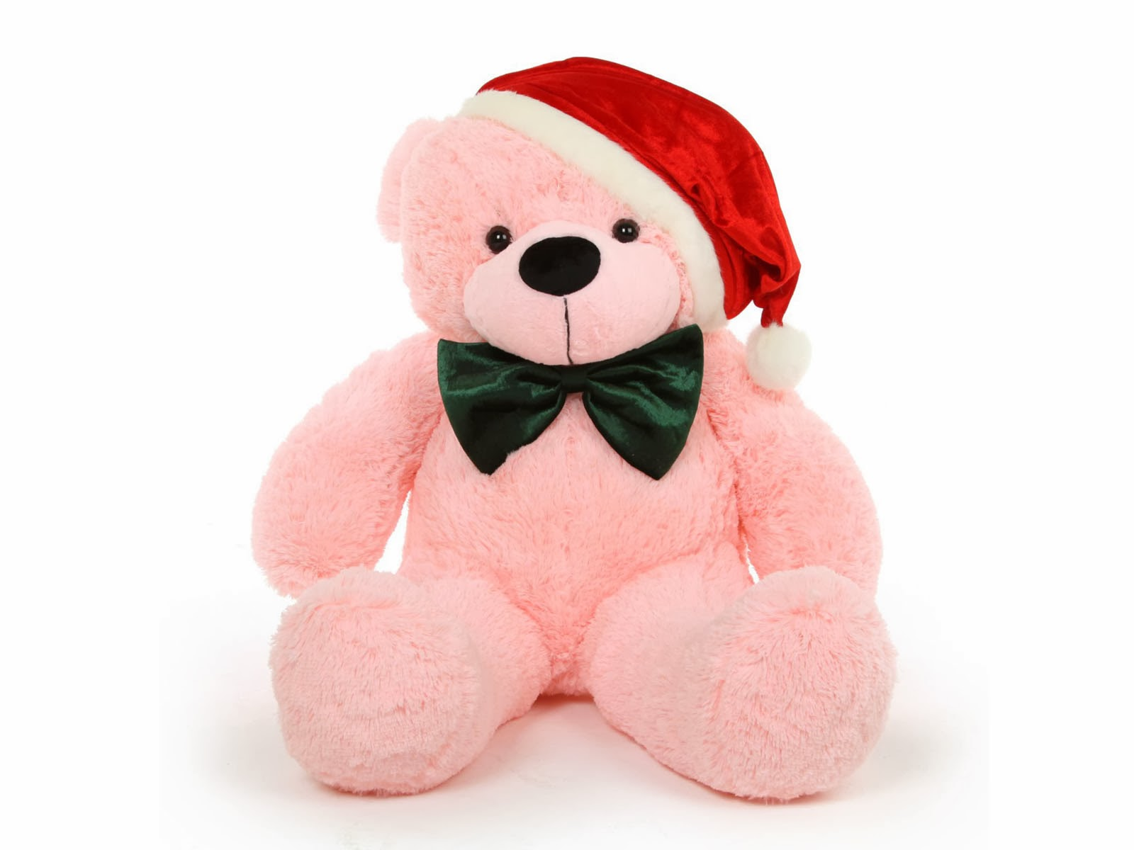 Christmas-Teddy-Bear-with santa hat-Wallpapers.jpg