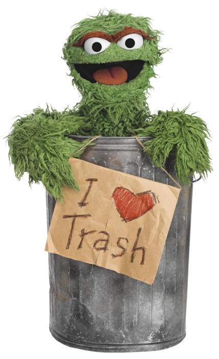 """I Love Trash""/ Oscar the Grouch/ Sesame Street Platinum ... Oasis Band Wallpaper"