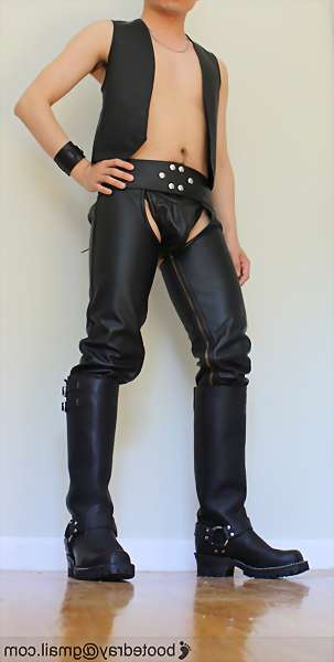 image of leather gay master