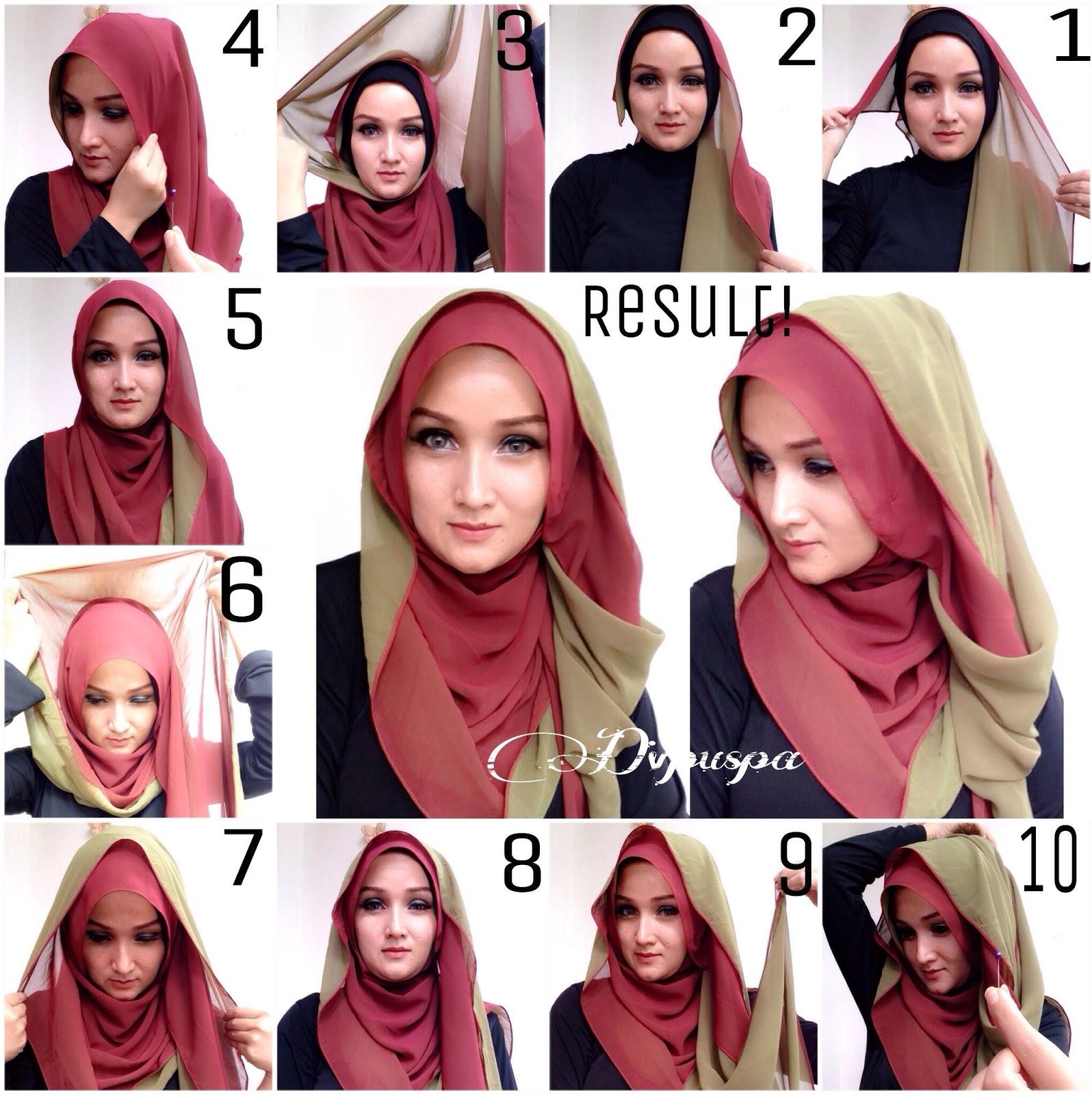 Easy Double Sided Hijab Tutorial Hijab Modern Fashion