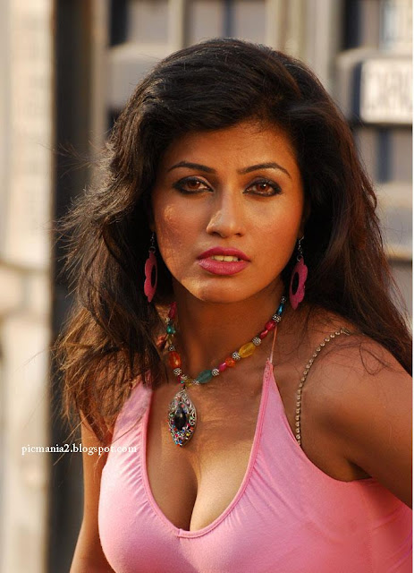 South indian actress Aarti Puri showing her huge cleavage and thighs