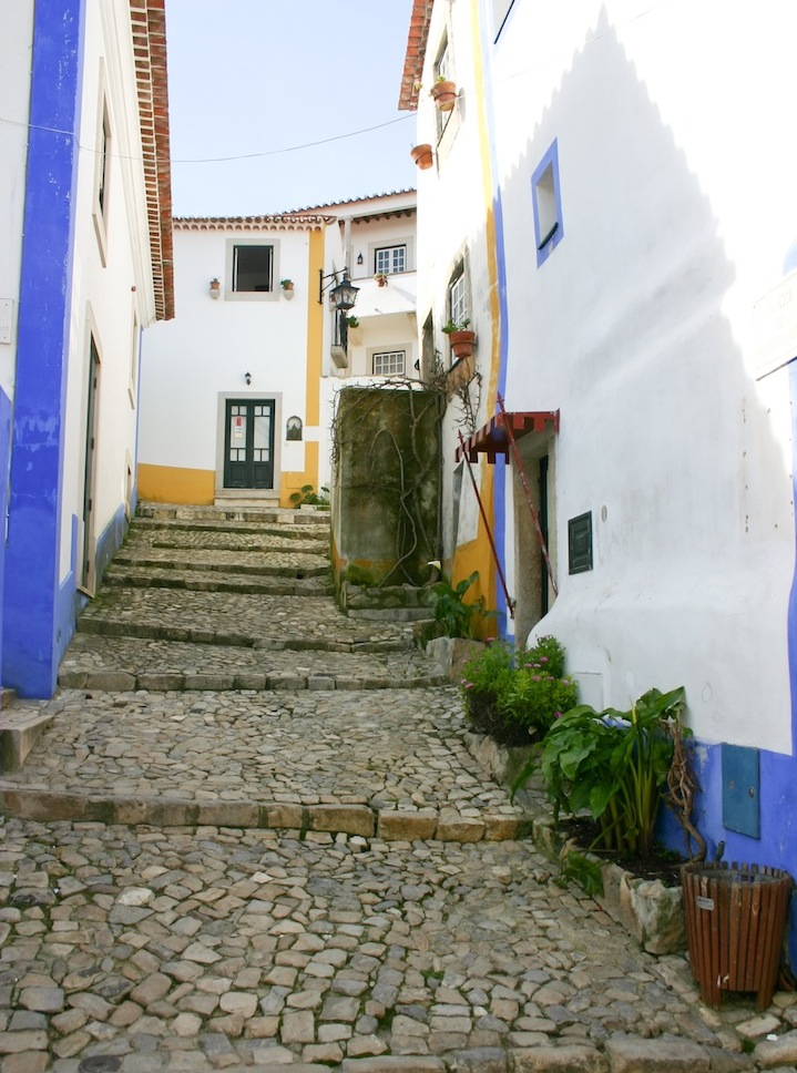 obidos portugal historic alley