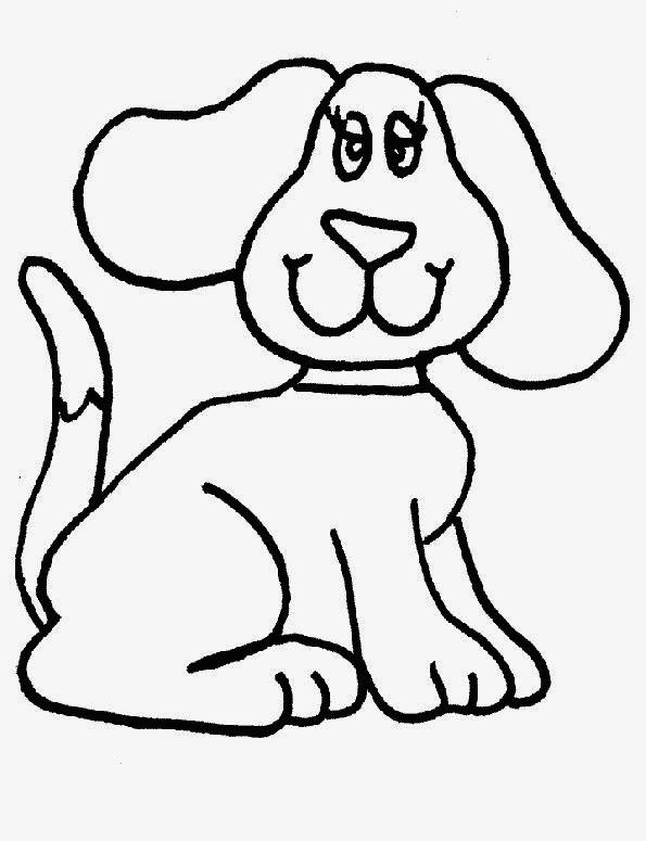 Free Printable Cute Dog Coloring Pages