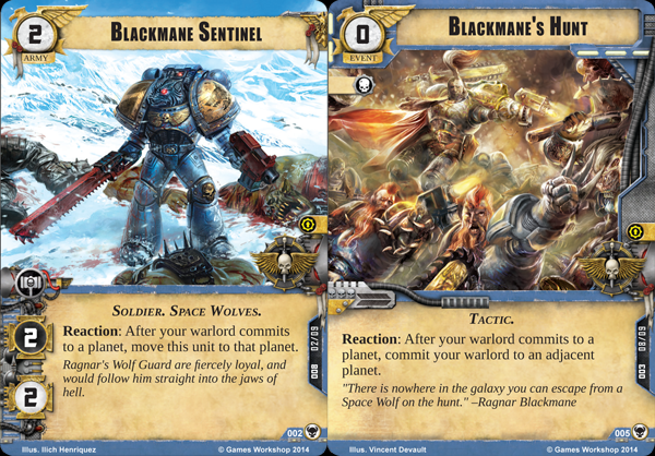 Warhammer 40,000 40k Conquest warpack Space Wolf Cards