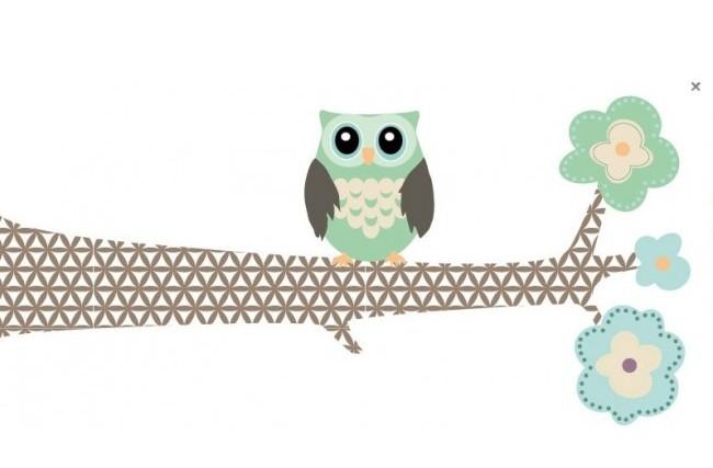 zeg maar yes • kinderkamer met uilen thema voor peuter en baby, Deco ideeën