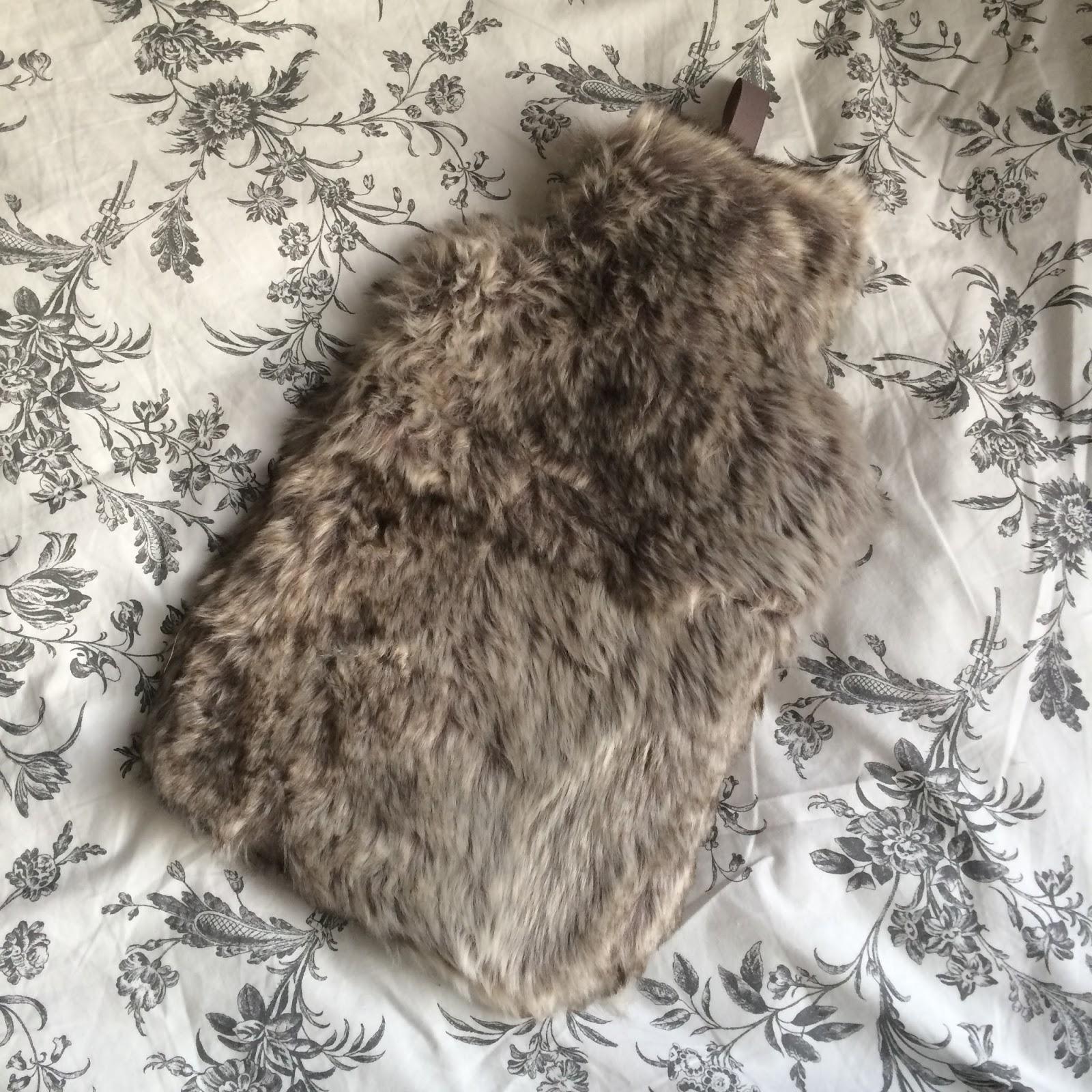 hot water bottle primark faux fur