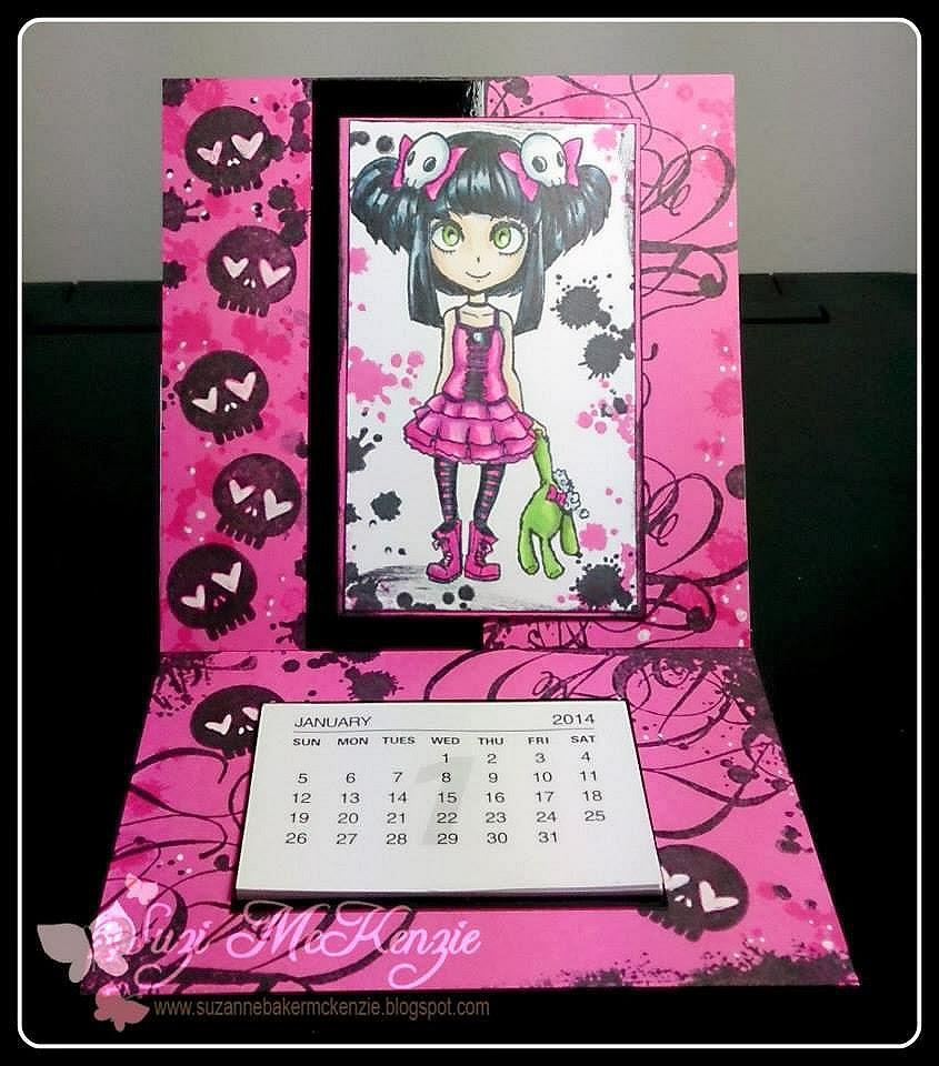 grunge ink splats girl character stamp visible image