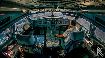 A stunning cockpit photo by Air Arabia pilot Karim Nafatni