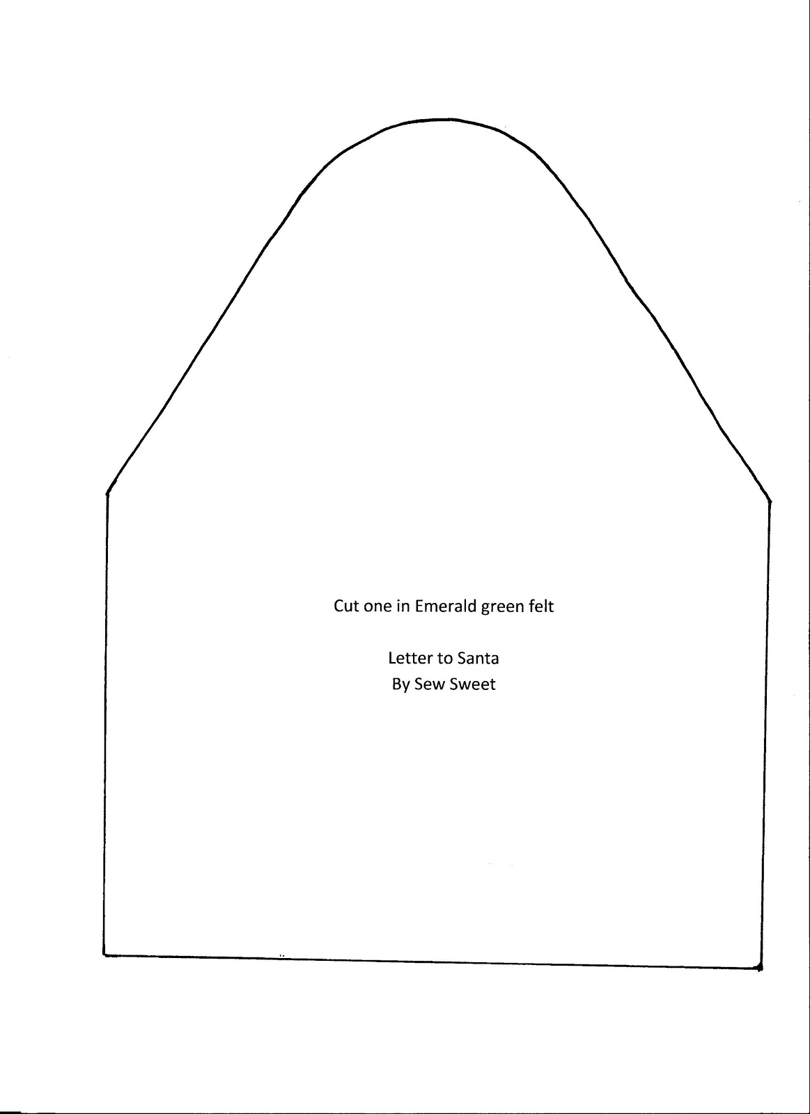 "Letter To Santa Envelope Template Instead of tracing the ""letter"