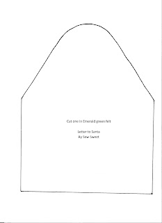 My Tiny Plot   Blog Archive   Felt Envelope for Santa's Letter