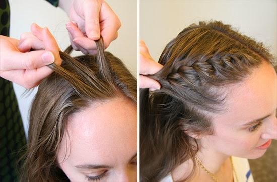 como hacer una TRENZA FRANCESA Peinado moderno YouTube - Peinado Trenza Cosida Costado