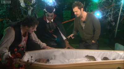 Helen Skelton in a coffin with rats - Blue Peter 31st October 2011
