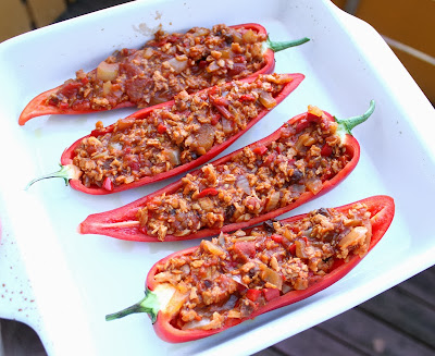 Oppskrift Gartinert Paprika Søtpaprika Tacofyll Vegansk Taco Vegetartaco