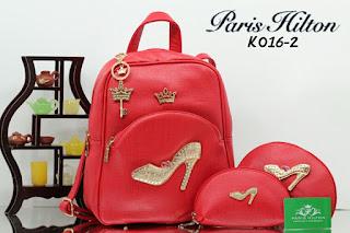 Tas KW Ransel Paris Hilton 3Fugsi Semi Premium K016-2AR Jakarta