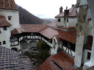 Vedere din terasa Castelul Bran (Brasov)