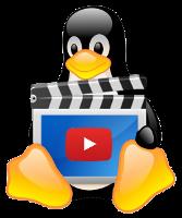 Linux Mascot Tux holding Youtube