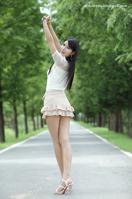 2 Cha Sun Hwa-Ruffle Mini Dress-very cute asian girl-girlcute4u.blogspot.com