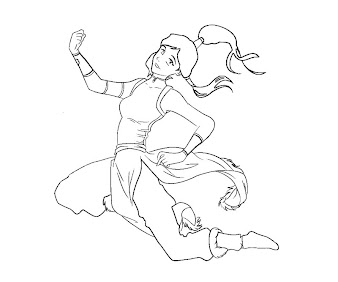 #3 Korra Coloring Page