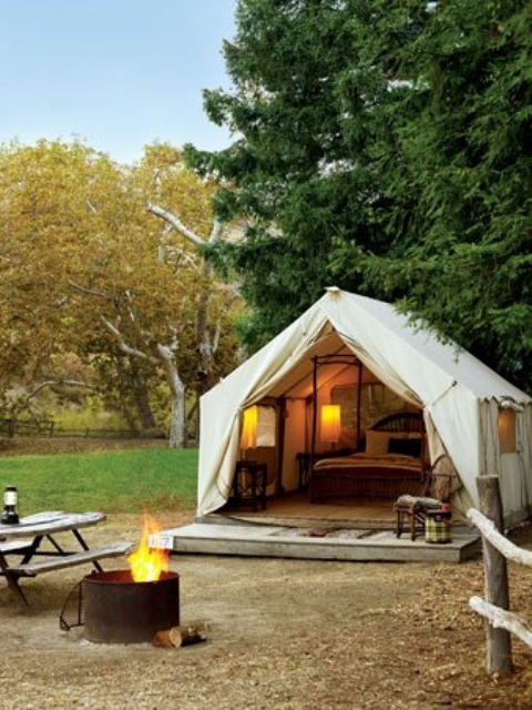 The Classic Canvas Wall Tent $997 on eBay. & Grosgrain: 8 Steps to Glamping