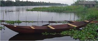Dugout canoe, Lekki Lagoon, Nigeria
