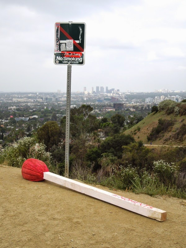 Oversized matchstick moments Runyon Canyon