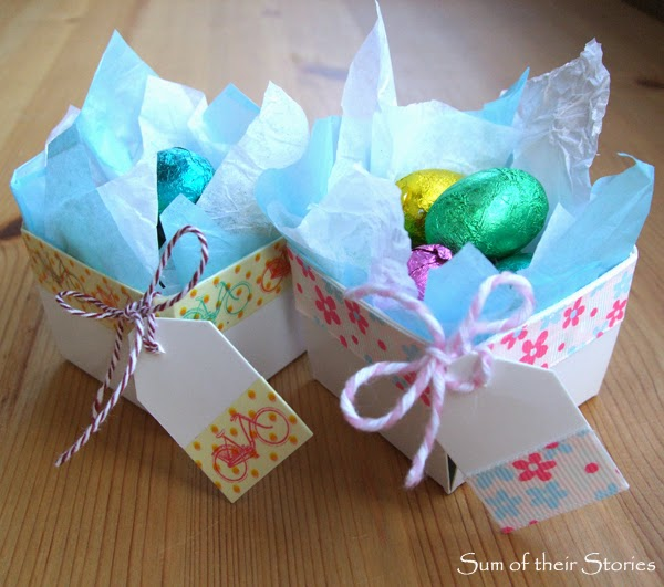 Washi Tape Berry Boxes