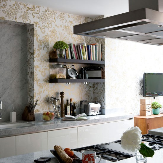 New Home Interior Design Kitchen Wallpaper