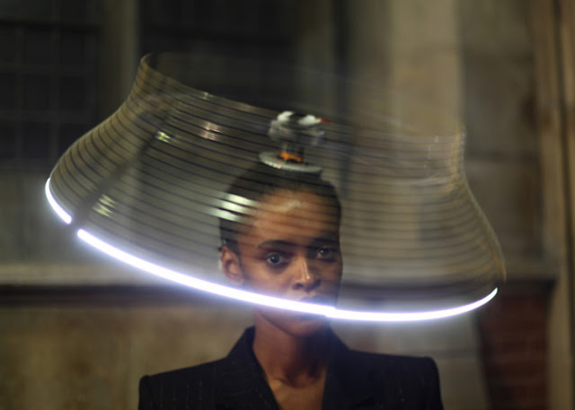 Kinetic LED Millinery