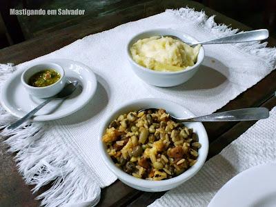 Restaurante Grande Sertão: Acompanhamentos (Baião de Dois, Purê de Aipim e Pimenta)