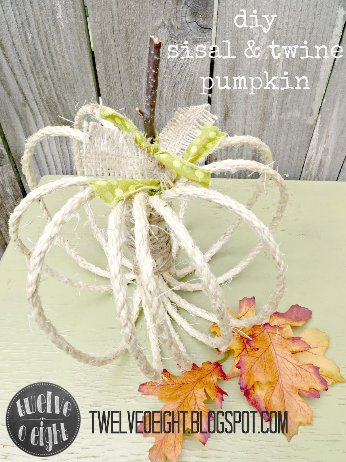 Diy sisal and twine pumpkins for Sisal decoration