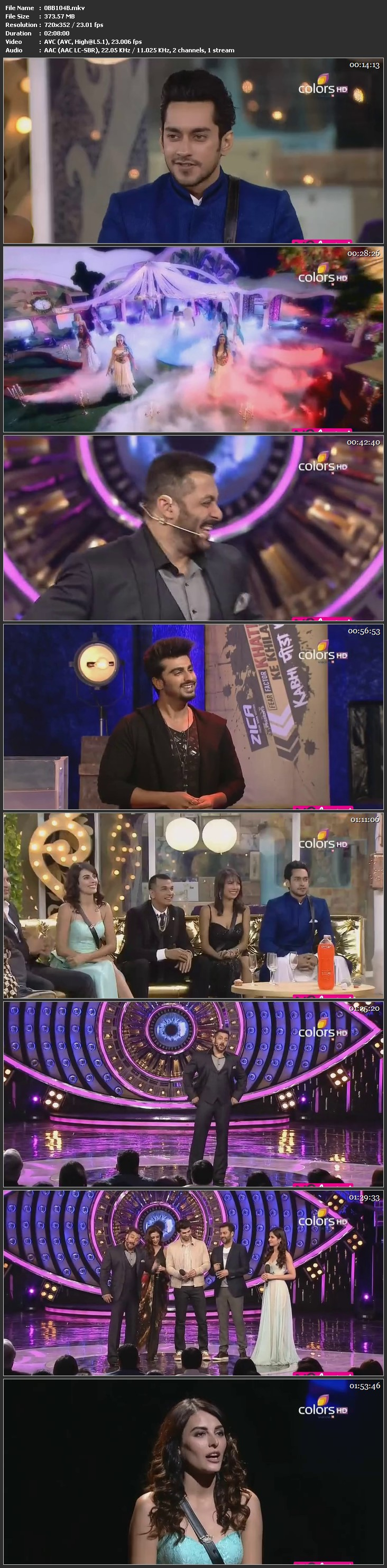 Screenshots Of Hindi Show Bigg Boss 9 2016 23rd January Episode 104 200MB 480P HD