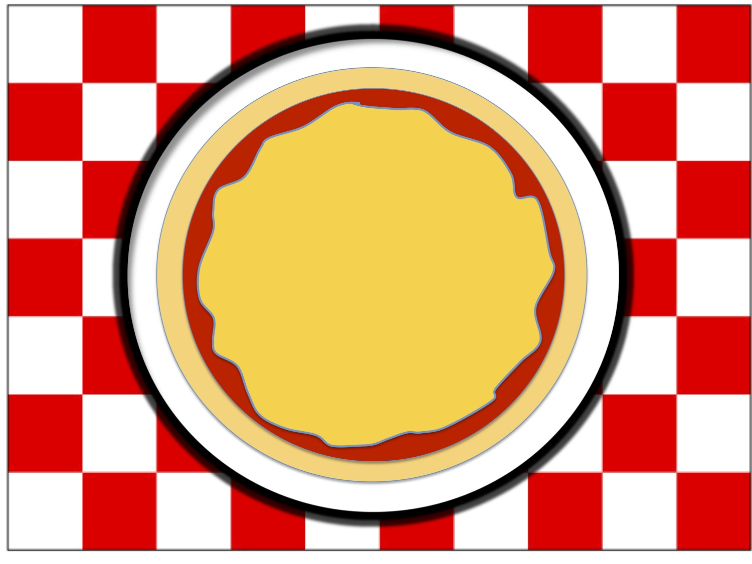 Kids Pizza Party Pizza Place Mat