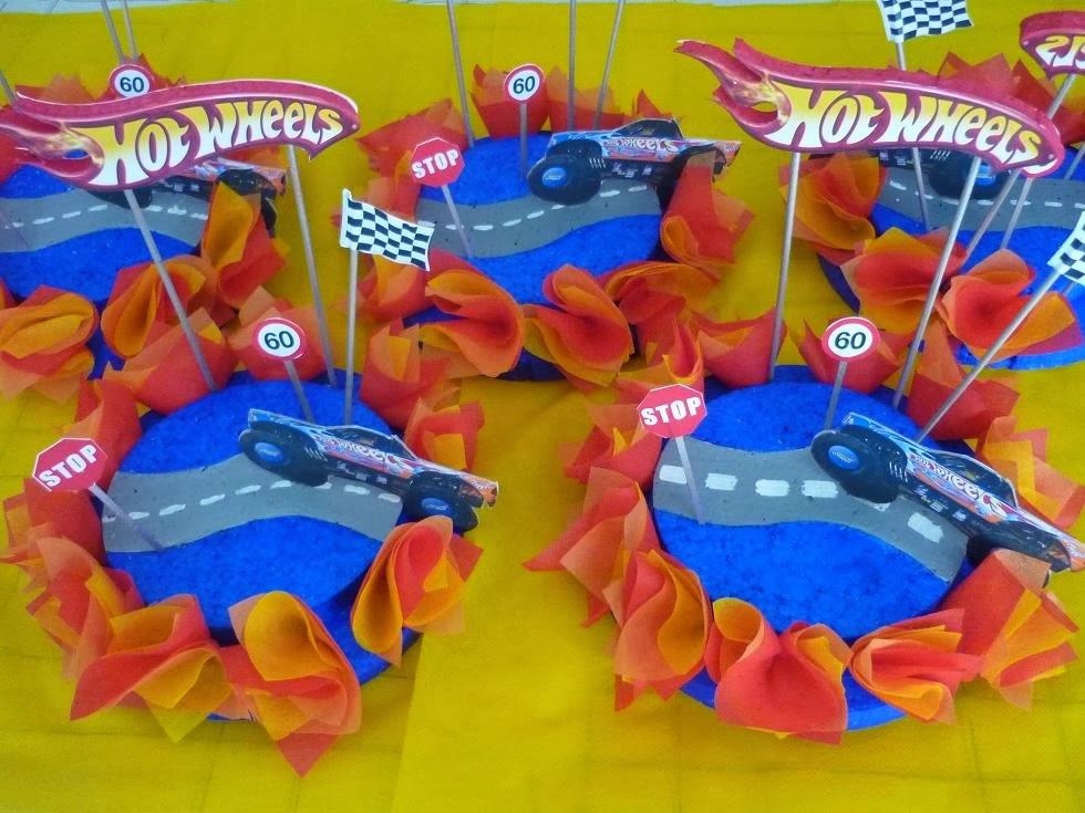 Centros de Mesa Hot Wheels, parte 1