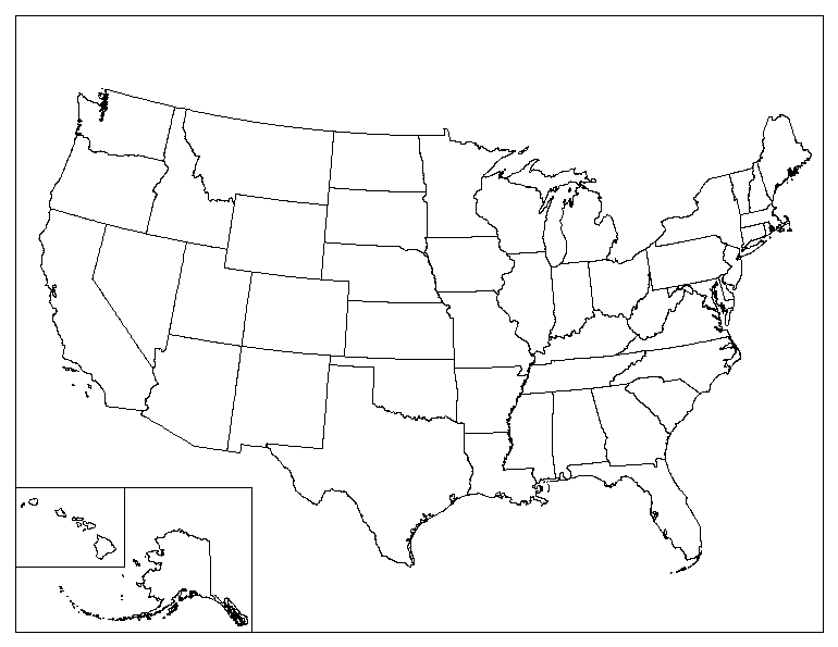 Find a map of USA online and zentangle the states (working on it) title=