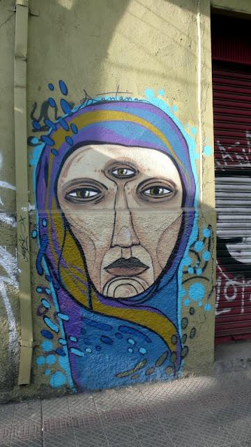 street art by santana in santiago de chile barrio bellavista arte callejero