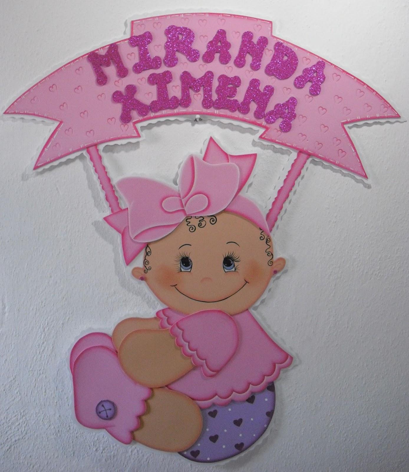 Bienvenidas para bebé en foami - Imagui