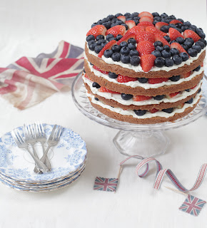 royal, sponge, cake, Union Jack Cake