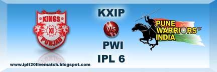IPL 6 Punjab vs Pune Watch Highlight Match and Scorecards