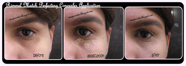 Rimmel Match Perfecting Concealer application process