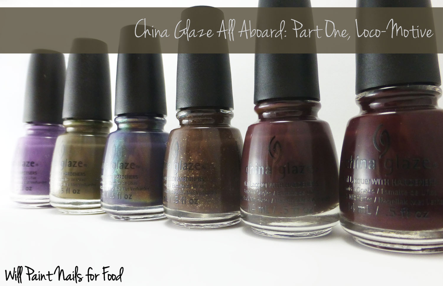China Glaze All Aboard collection: Part one, Loco-Motive