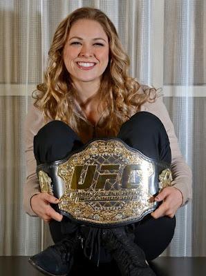 Ronda Rousey With The UFC 157 Bantamweight Belt