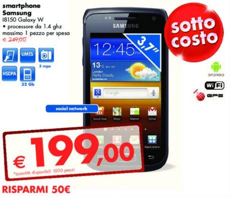 Prezzo sottocosto Samsung Galaxy W in offerta sul volantino Panorama ...