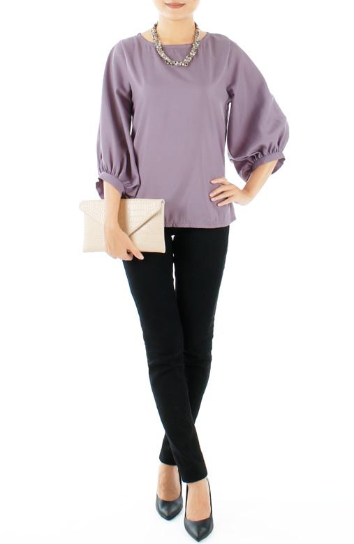 Lavender Prim n' Proper Scoop Sleeve Blouse