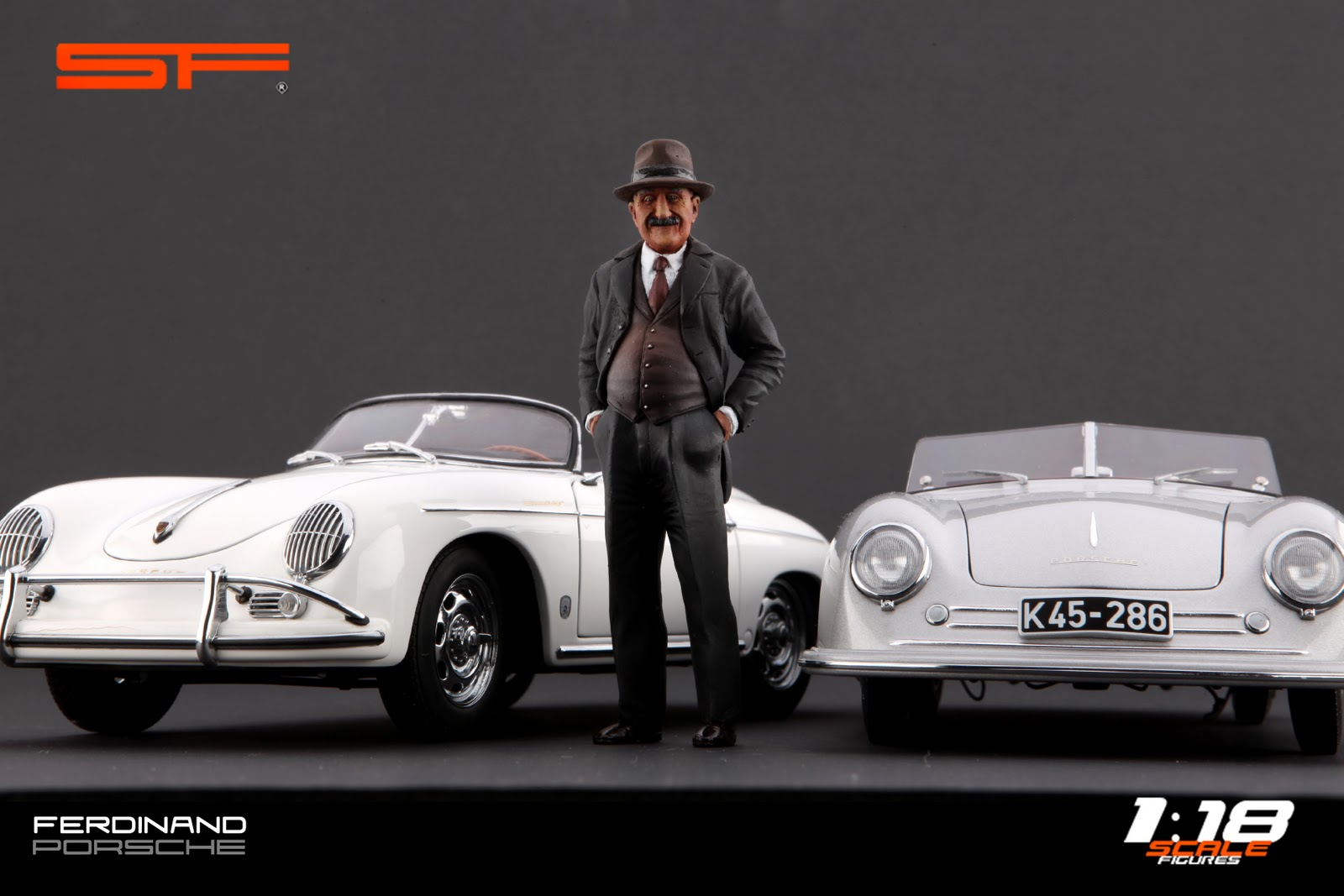 scalefigures ferdinand porsche 1 18 hat. Black Bedroom Furniture Sets. Home Design Ideas