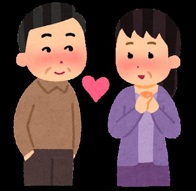 恋愛のイラスト(中年)