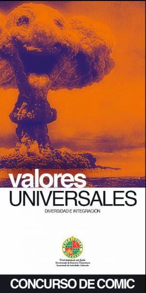 """Cartel del concurso de cómic """"Valores Universales"""" de la Universidad de Jaén"""