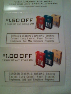 l&m cigarettes coupon